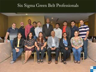 Six Sigma Green Belt Professionals