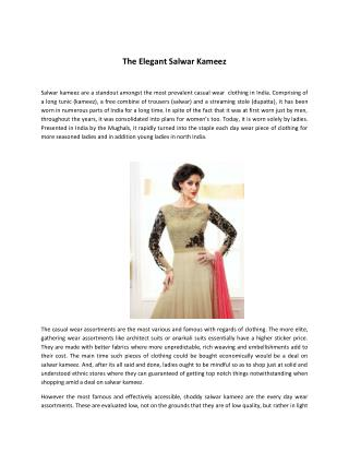 The Elegant Salwar Kameez