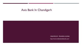Axis Bank In Chandigarh