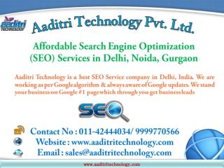 Affordable SEO Services in Delhi