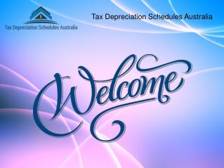 Tax Depreciation Schedules Australia for Depreciation Report.
