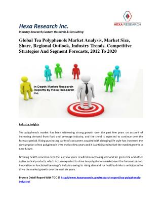 Global Tea Polyphenols Market Analysis, Market Size, Share, Regional Outlook, Industry Trends, Competitive Strategies An