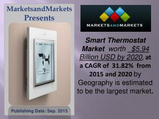 Smart Thermostat Market worth 5.9 Billion USD by 2020