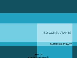ISO consultants is here with solution and services at reliable ISO Certification cost