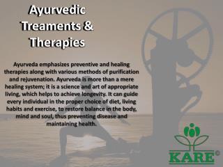 Ayurvedic Treaments & Therapies