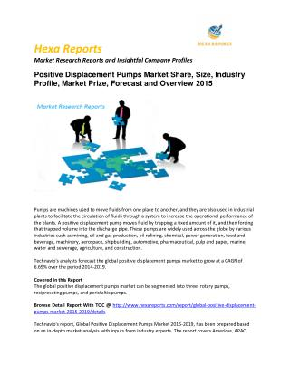 Positive Displacement Pumps 2015 Market Size, Share, trends and Forecast  2015