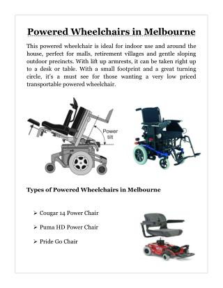 Powered Wheelchairs Melbourne