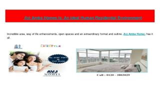 Avj Amba Homes Is  An Ideal Human Residential Environment