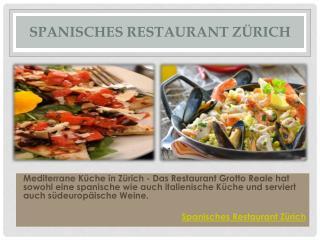 Spanisches Restaurant Zürich