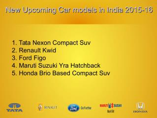 Upcoming Car models in India With Estimated Price
