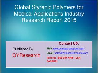 Global Styrenic Polymers for Medical Applications Market 2015 Industry Growth, Trends, Analysis, Research and Developmen