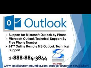 Outlook customer service number 1-888-884-3844 outlook help number