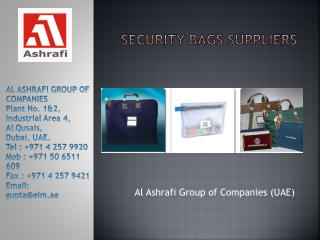 Security Bags Suppliers In Dubai, UAE