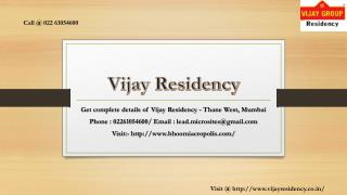 Vijay Residency - Virar, Mumbai - Price, Review, Floor Plan - Call @ 02261054600