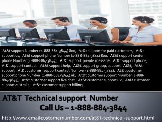 At&t customer support 1-888-884-3844 At&t helpline number