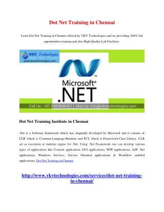 Dot Net Training in Chennai
