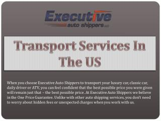 Transport Services In The US