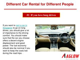 Different Car Rental for Different People