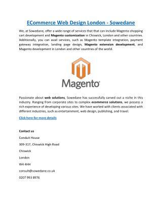 ECommerce Web Design London - Sowedane