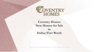 Affordable New Homes by Home Builders in Dallas