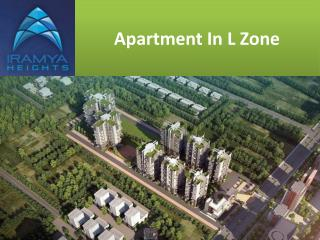 Apartment in L Zone|3BHK in L Zone- iramya.com