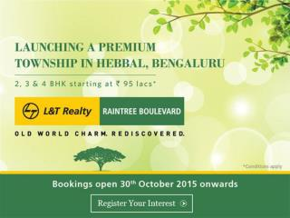 L&T Realty Present Pre Launch Project Raintree Boulevard Hebbal Bangalore