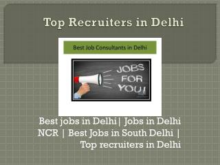 Job Opportunity In Delhi | Best Recruitment firms - Job Mirror