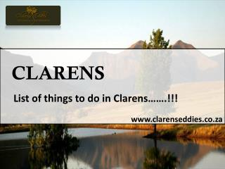 Best Clarens Accommodation