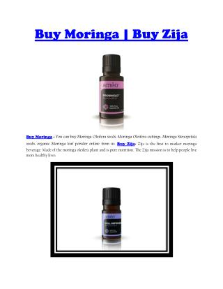 Buy Moringa | Buy Zija