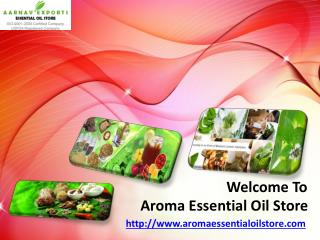 Online Natural Essential Oils Suppliers
