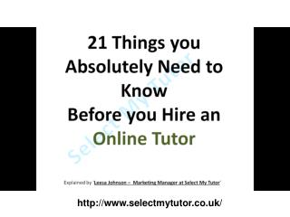 Hire an Online Tutor