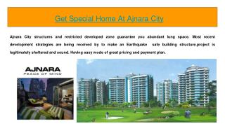 Get Special Home At Ajnara City