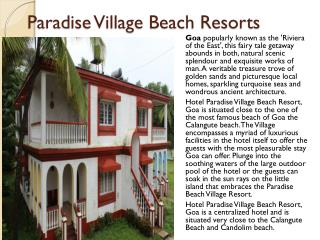 Paradise Village Beach Resort