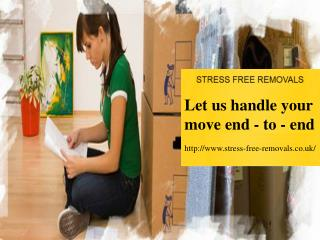 Stress free removal services