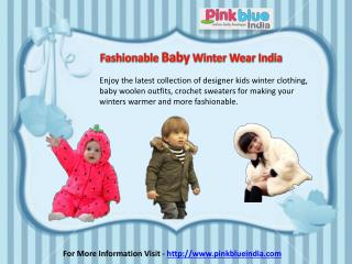 Beautiful Cold Weather Clothing for Kids in India