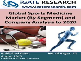 Global Sports Medicine Market Analysis to 2020