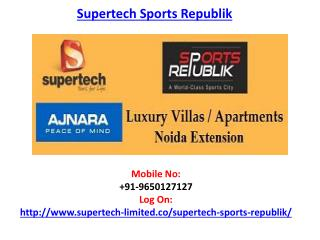 Supertech Sports Republik Noida Extension Project