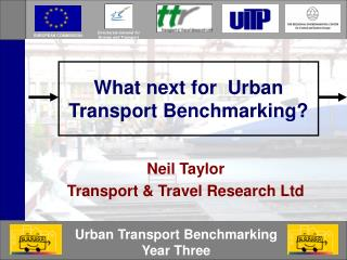 What next for  Urban Transport Benchmarking