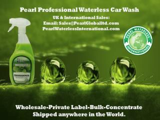 The Pearl Waterless that Protect-Shine-Eco friendly for Car Care.