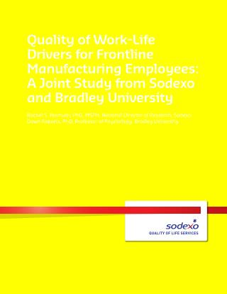 Quality of Work-Life Drivers for Frontline Manufacturing Employees