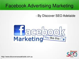 Facebook Advertising Marketing offer by Discover SEO Adelaide