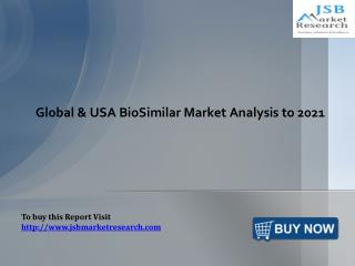 Global & USA BioSimilar Market Analysis: JSBMarketResearch