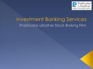 Best Investment Banking Company India