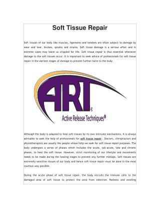 Soft Tissue Repair