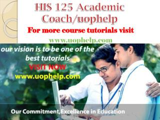 HIS 125 Academic Coach/uophelp