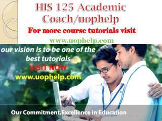 HIS 125 Academic Coach/uophelp