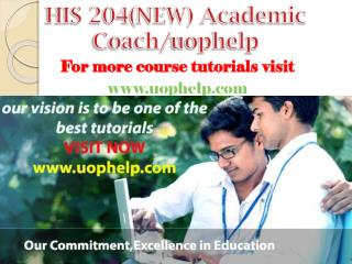 HIS 204(NEW) Academic Coach/uophelp