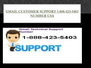 Gmail Customer Support 1-888-423-5403 Number USA
