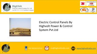 Electric Control Panels by Highvolt India
