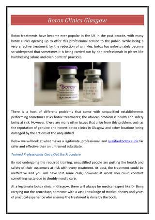 Botox Clinics Glasgow
